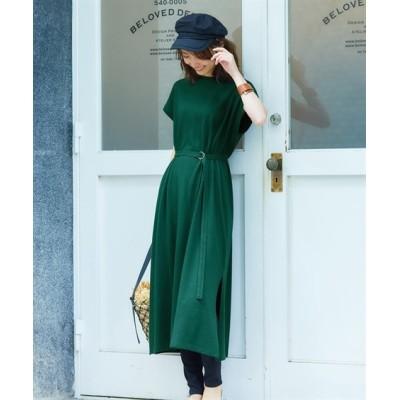 時短で楽ちん2点セット(Tシャツワンピース+レギンス) (ワンピース)Dress