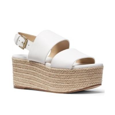 マイケルコース レディース サンダル シューズ Trish Espadrille Platform Wedge Sandals Optic White