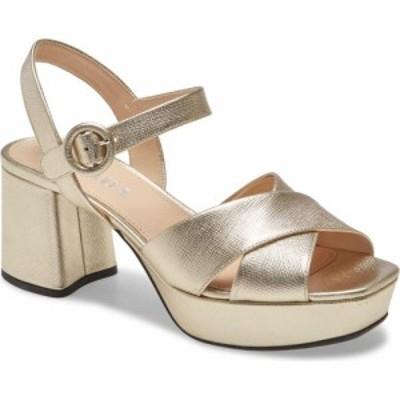プラダ PRADA レディース サンダル・ミュール シューズ・靴 Crisscross Platform Sandal Silver