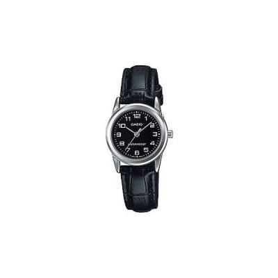腕時計 カシオ Casio レディース ブラック レザー ストラップ 腕時計 ブラック ダイヤル LTP-V001L-1B