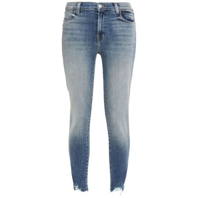 ジェイ ブランド J BRAND レディース ジーンズ・デニム ボトムス・パンツ Cropped distressed high-rise skinny jeans Blue