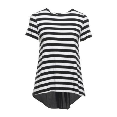 1-ONE T シャツ ブラック 40 レーヨン 96% / ポリウレタン 4% / アセテート / シルク T シャツ