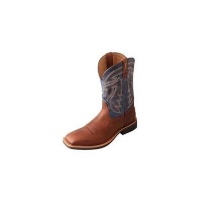 ウエスタン カウボーイ ブーツ シューズ 靴 ツイステッド エックス? ツイストed X Western ブーツ メンズ Stockman スクエア Peanut デニム MSM0011