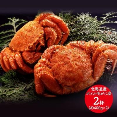 プレゼント 送料無料 北海道産 ボイル毛がに姿 約400g×2杯 SK1174 お取り寄せ 毛ガニ カニ 蟹 かに 特産 手土産 お祝い 詰め合せ 贈答品 食品 父の日 2021