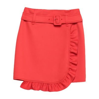 プラダ PRADA ひざ丈スカート レッド 40 ポリエステル 97% / ポリウレタン 3% ひざ丈スカート