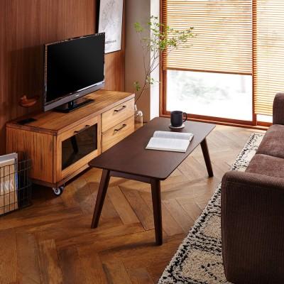狭い部屋にも置きやすいリビングテーブル
