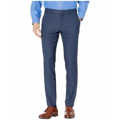 ペリーエリス カジュアルパンツ ボトムス メンズ Very Slim-Fit Stretch Heathered Dress Pants Navy