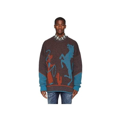 customerAuth Cowboy Sweater メンズ セーター Brown/Light Blue/Orange