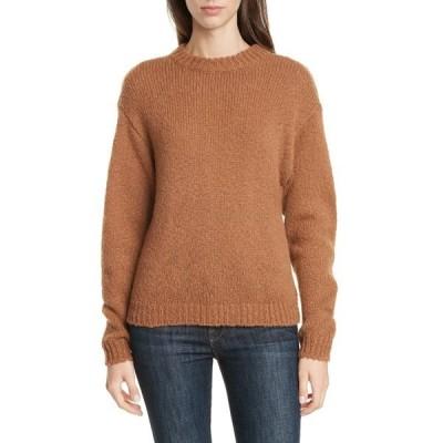 レミット レディース ニット&セーター アウター Crewneck Sweater BROWN CAROB