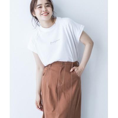 tシャツ Tシャツ ◆USA Cotton◆モックネックロゴTシャツ