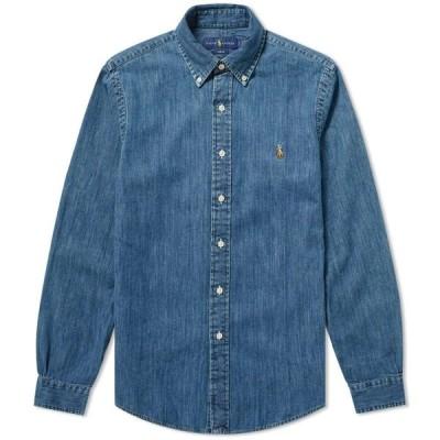 ラルフ ローレン Polo Ralph Lauren メンズ シャツ デニム トップス Slim Fit Button Down Denim Shirt Dark Wash