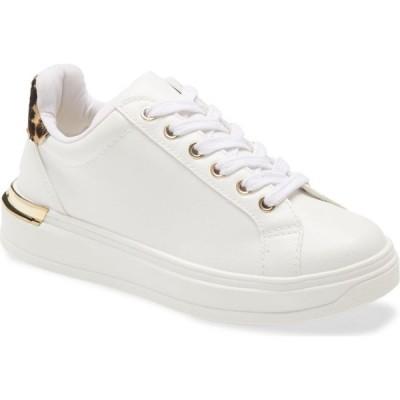 スティーブ マデン STEVE MADDEN レディース スニーカー シューズ・靴 Jaxie Sneaker White/Leopard Print