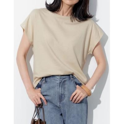 【リエディ】 フレンチスリーブコットンTシャツ レディース ライト ベージュ M(003) Re:EDIT