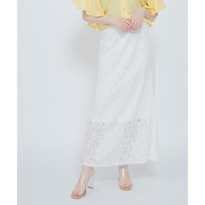 スカート 花柄レーススカート