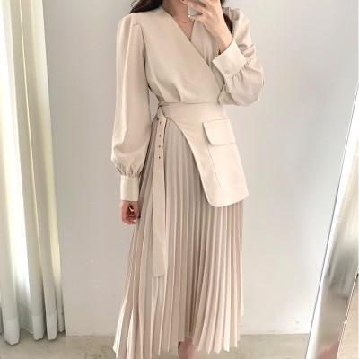 「12.21」Daily Update ~ 🍒JULYEI🍒💛長袖切り替えプリーツワンピース 【2色セレクション】💛韓国のファッションコレクション ~