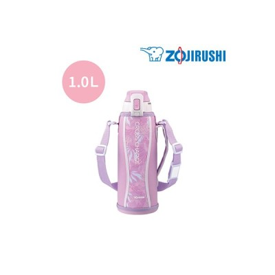 象印 水筒 1.0L ステンレスクールボトル 保冷専用 タフ SD-FB10-PJ ボタニカルピンク TUFF【60サイズ】