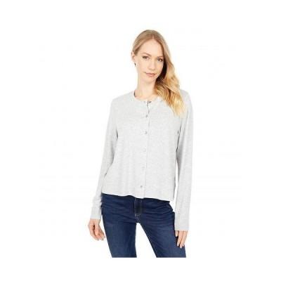 Lucky Brand ラッキーブランド レディース 女性用 ファッション Tシャツ Cloud Jersey Cardi Tee - Heather Grey