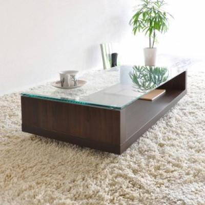 OLA-CT ガラストップ センターテーブル ローテーブル カラー  ブラウン色(ホワイト色もあり) サイズ  幅80×奥行き45×高さ38cm ディス