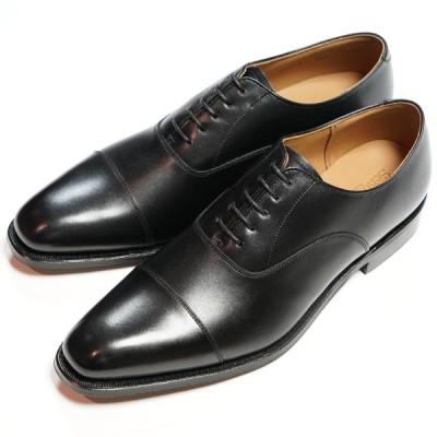 日本製グッドイヤーウエルト紳士靴 ショーンハイト 内羽根ストレートチップ(SH416-1)革底 黒