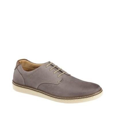 ジョンストンアンドマーフィー メンズ スニーカー シューズ Men's McGuffey Suede Leather Plain-Toe Oxfords Gray