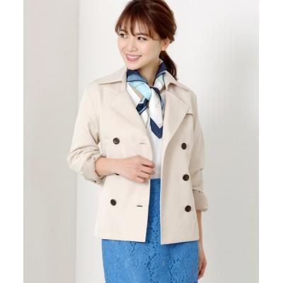 MEW'S REFINED CLOTHES / 撥水・防花粉ショートトレンチコート WOMEN ジャケット/アウター > トレンチコート