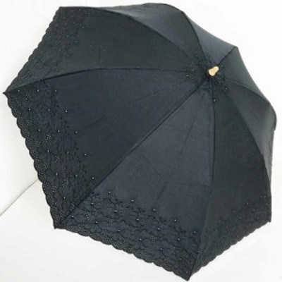 【日傘純パラソル】UVケアパラソル 折 綿サテン2インチエンブ花柄 (21-5032) 【送料無料】(アンブレラ、雨傘、日傘、UV対策、紫外