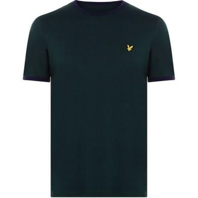 ライル アンド スコット Lyle and Scott メンズ Tシャツ トップス Ringer T Shirt Green/Navy Z