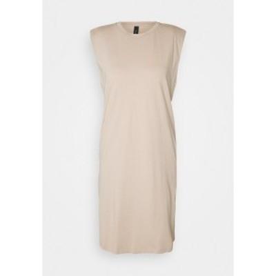 ヤス レディース ワンピース トップス YASSARITA PADDED SHOULDER - Jersey dress - simply taupe simply taupe