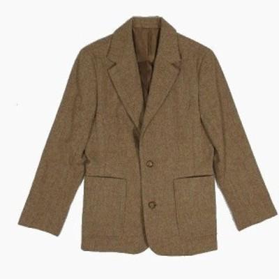 【中古】i.n.e nouie/インエ ウール テーラードジャケット アウター 茶色 ブラウン サイズ2 ◎12 レディース