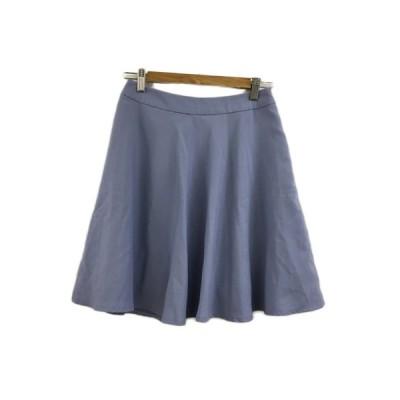 【中古】ビス ViS スカート フレア ミニ 無地 S 水色 ライトブルー レディース 【ベクトル 古着】