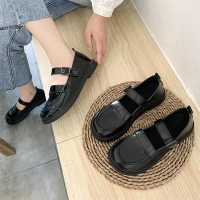 レディース 革靴 ローファー カジュアル JK ウォーキング ローヒール スクール 女子靴