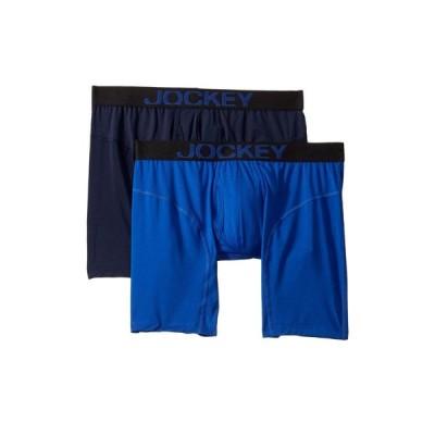 ジョッキー Jockey メンズ ブリーフ 2点セット インナー・下着 Athletic Rapidcool Midway Brief 2-Pack Vibrant Blue/True Navy