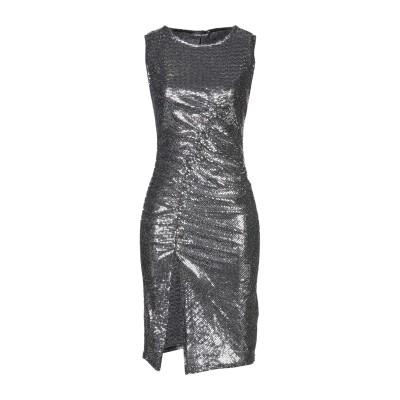 VANESSA SCOTT ミニワンピース&ドレス シルバー S ナイロン 87% / 金属繊維 7% / 合成繊維 6% ミニワンピース&ドレス