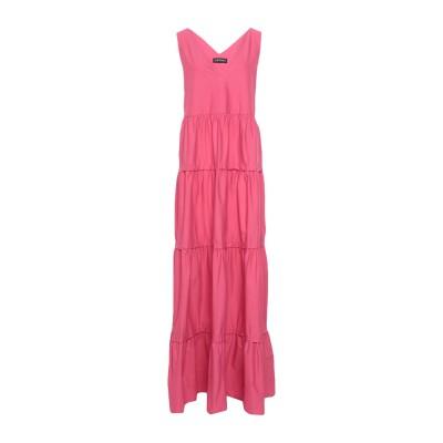 ツインセット シモーナ バルビエリ TWINSET ロングワンピース&ドレス フューシャ 42 コットン 97% / ポリウレタン 3% ロングワン