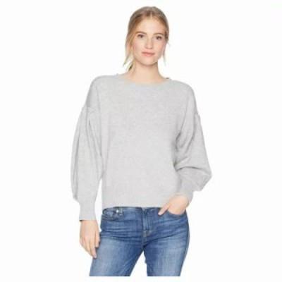 ワンステート ニット・セーター Crew Neck Blouson Sleeve Sweater Light Heather Grey