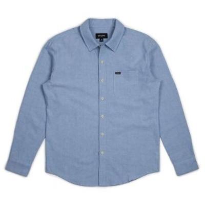 ブリクストン メンズ シャツ トップス Brixton Men's Charter Oxford LS Shirt Light Blue Chambray