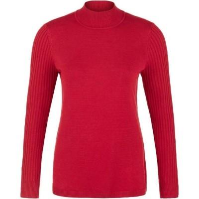 トリバル Tribal レディース ニット・セーター トップス Long Sleeve Mock Neck Sweater Scarlet