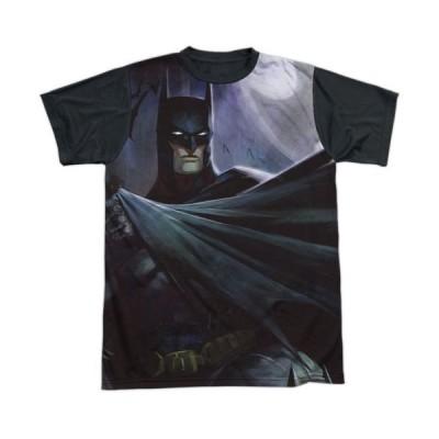 Tシャツ DCコミックス Infinite Crisis Game Batman Cape Sublimation Black Back Licensed Adult T Shirt