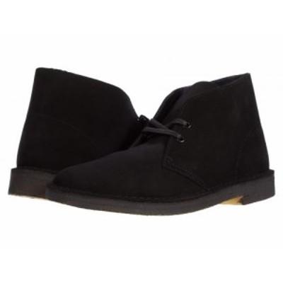 Clarks クラークス メンズ 男性用 シューズ 靴 ブーツ チャッカブーツ Desert Boot Black Suede 1【送料無料】