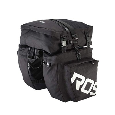 N/ A 3-in-1 Waterproof Bicycle Cycling Pannier Bag Gear Pack Black[並行輸入品]