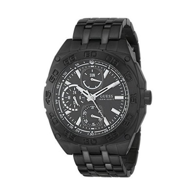 GUESS Men's U0487G2 Black Ionic Plated Multi-Function Watch【並行輸入品】