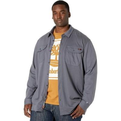 ティンバーランド Timberland PRO メンズ シャツ トップス Extended FR Cotton Core Button Front Shirt Charcoal