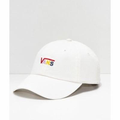 ヴァンズ キャップ Vans Courtside Cream Strapback Hat White