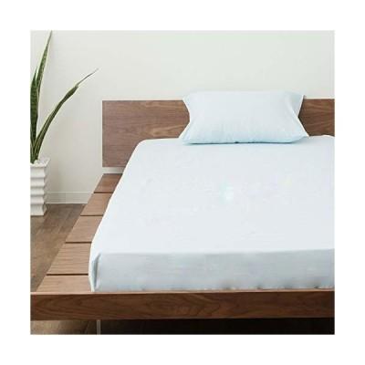 エムール 日本製 ボックスシーツ シングル 全12色 ブルー 綿100% 洗える 周囲フィットゴム式 ベッドカバー