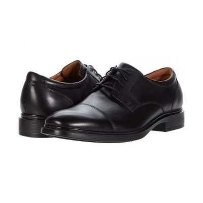 Florsheim フローシャイム メンズ 男性用 シューズ 靴 オックスフォード 紳士靴 通勤靴 Forecast Waterproof Cap Toe Oxford - Black Smooth