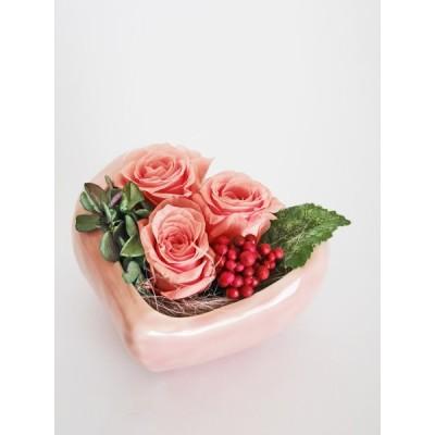 プリザーブドフラワーギフト LOVEアレンジ  お誕生日 記念日に贈る お祝いに贈る花 プレゼント