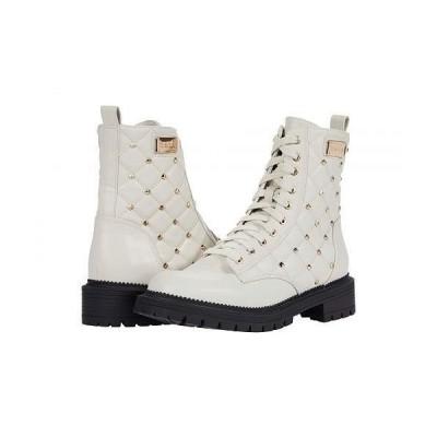 Bebe べべ レディース 女性用 シューズ 靴 ブーツ レースアップ 編み上げ Dorrine-B - White