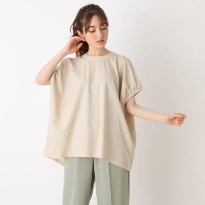 シューラルー SHOO-LA-RUE ひんやりゆるTシャツ (ライトベージュ)