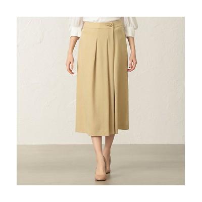 <TO BE CHIC(Women)/トゥー ビー シック>【Tricolore】トリアセサージスカート(W5S70385__) ベージュ【三越伊勢丹/公式】