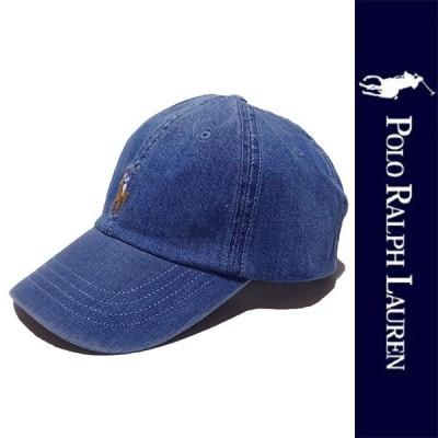 新品 POLO RALPH LAUREN CAP ポロ ラルフローレン キャップ ブルー デニム ベースボール 帽子 ぼうし ポニー メンズ レディース 正規品 (147)